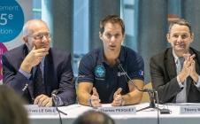 Jean-Yves Le Gall, Thomas Pesquet et Thierry Mandon à la Fête de la Science 2016